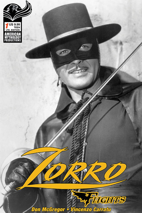 Don McGregor's Zorro Flights #1 Century Ed 1/100 B&W Photo Cvr