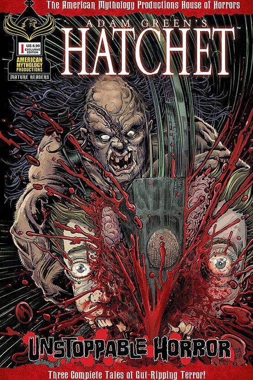 Hatchet Unstoppable Horror #1 AM Exclusive Cvr