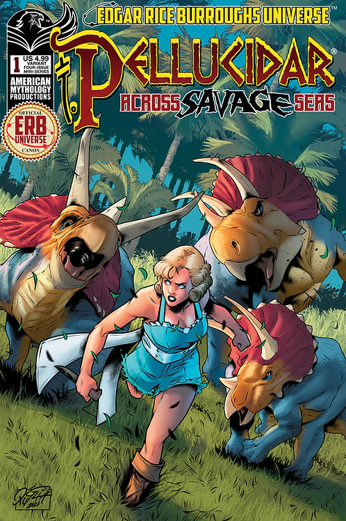 Pellucidar Across Savage Seas #1 Wolfer Var Cvr