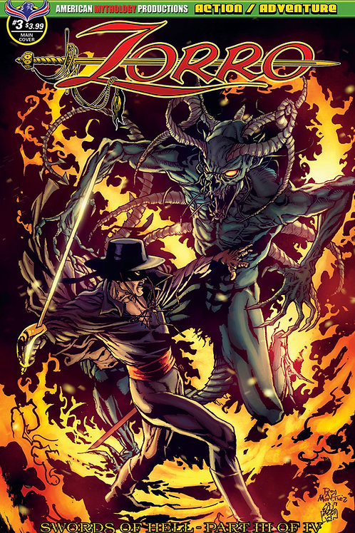 Zorro Swords of Hell #3 Martinez Main Cvr