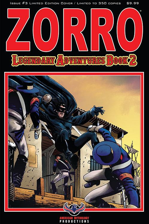 Zorro Legendary Adventures Book II #3 Blazing Blades Ltd Ed 1/350 Cvr
