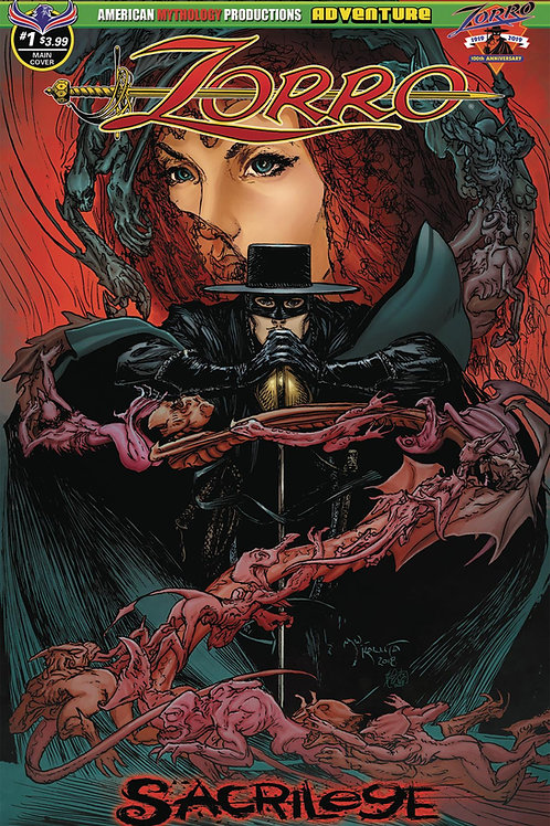 Virtual FCBD signed Wolfer & Jane -Zorro Sacrilege #1