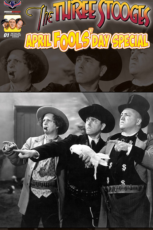 The Three Stooges April Fools #1 Rare Retailer Incentive B&W Photo Cover Cover