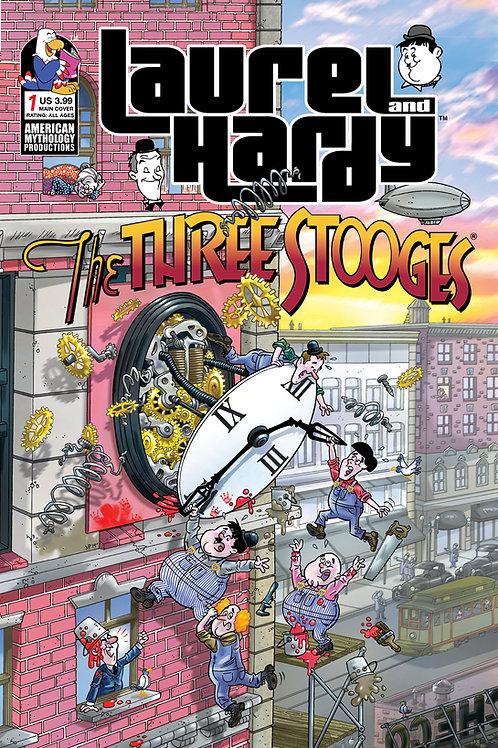 Laurel & Hardy Meet The Three Stooges #1 Laugh Time Cvr