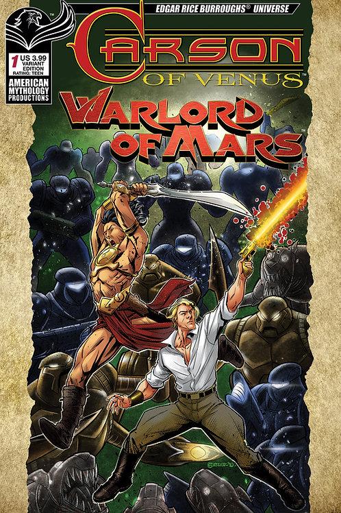 Carson of Venus / Warlord of Mars #1 Mesarcia Warriors Cvr