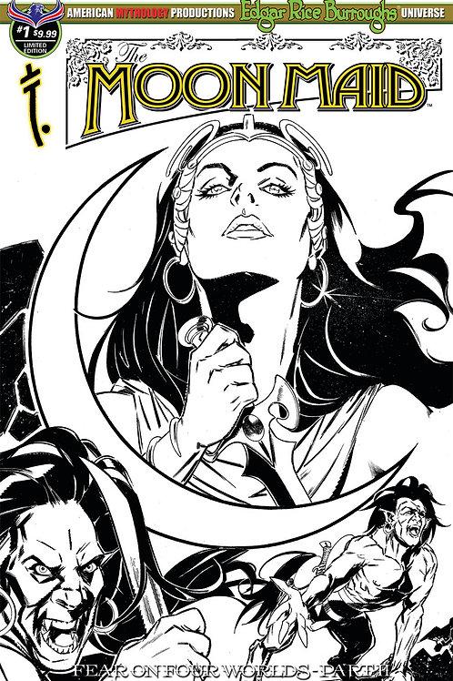 Moon Maid #1 Fear on Four Worlds Pt1 Ltd Ed 1/350 B&W Variant