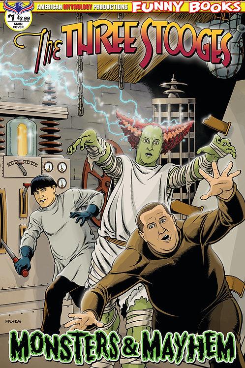 Three Stooges Monsters & Mayhem Main Fraims Cover