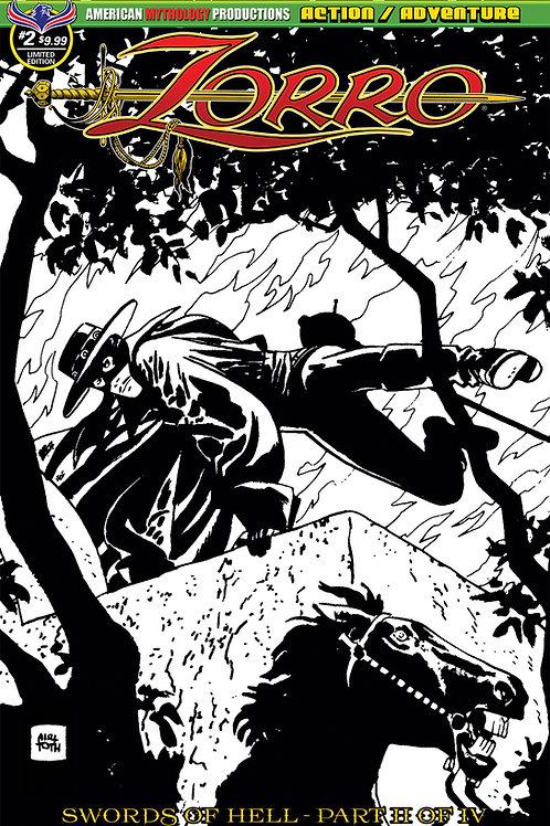 Zorro Swords of Hell #2 Visions of Zorro Alex Toth Ltd Ed 1/450 Cvr