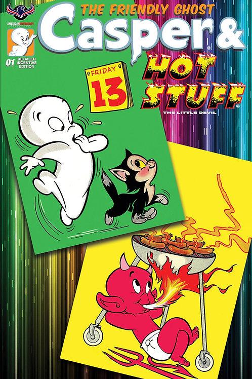 Casper And Hot Stuff #1 Ltd Ed Retro Animation Cvr
