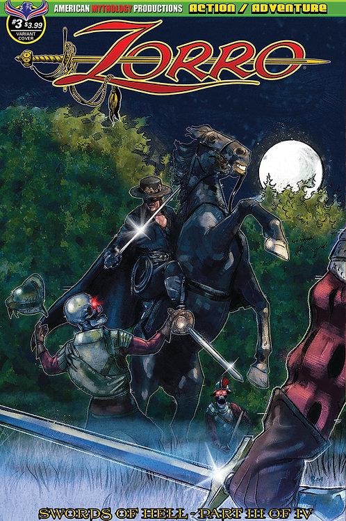 Zorro Swords of Hell #3 Pinto Moonlight Cvr