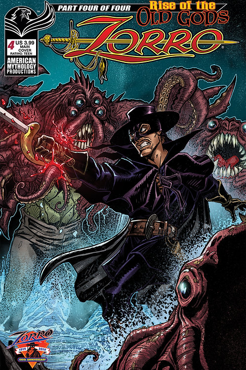 Zorro Rise of the Old Gods #4 Calzada Main Cvr