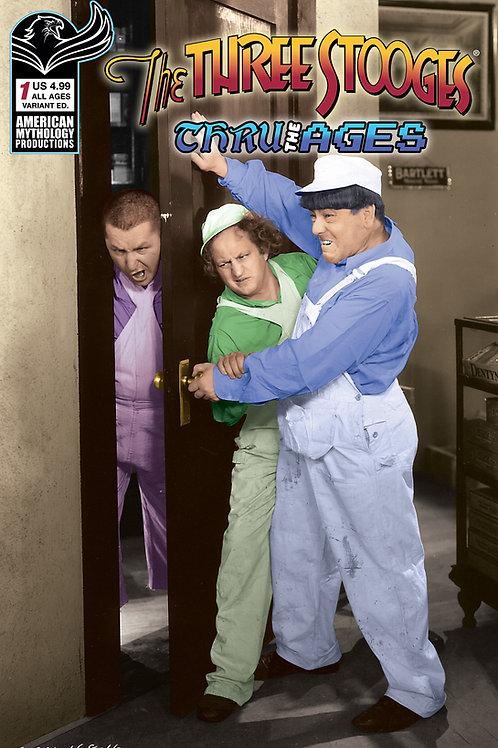 Three Stooges Thru The Ages #1 Color Photo Var Cvr