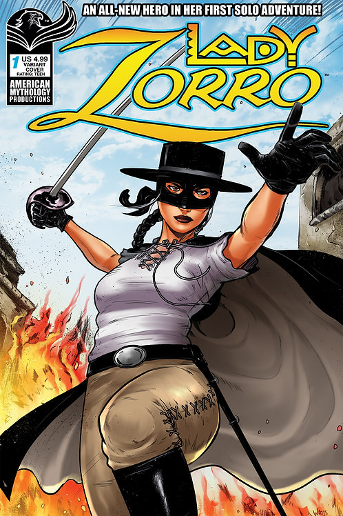 Lady Zorro #1 Watts Swashbuckling Cvr