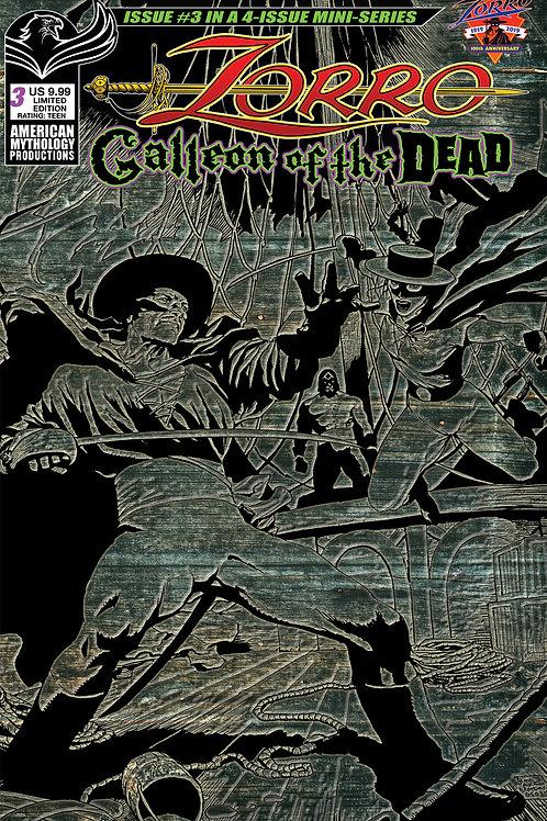 Zorro Galleon of the Dead #3 1/350 Ltd Ed Pulp Cvr