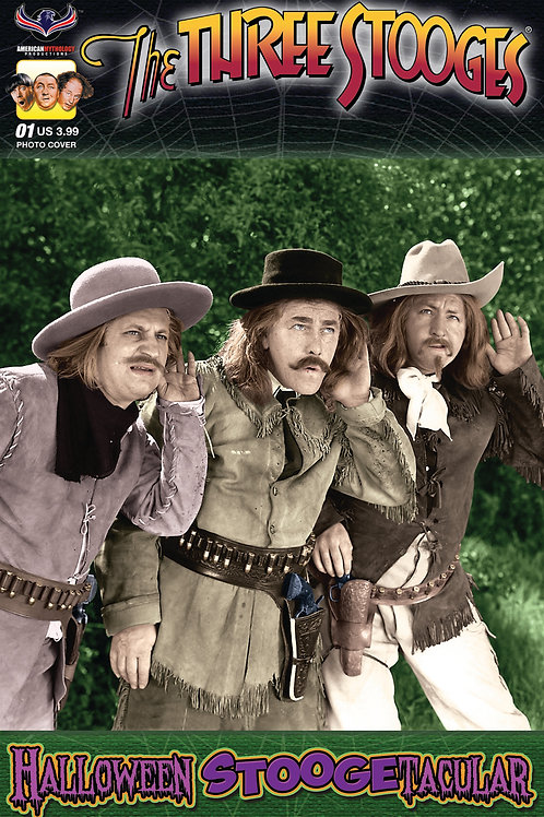 Three Stooges Halloween Stoogetacular Color Photo Cover