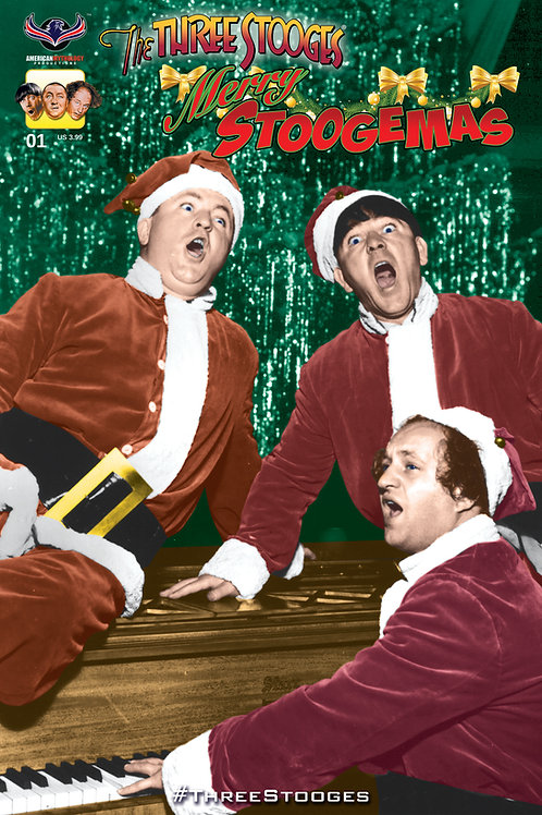 The Three Stooges Merry Stoogemas #1 Photo Cvr