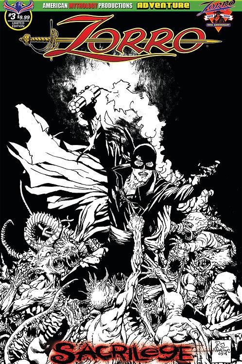 Zorro Sacrilege #3 Ltd Ed 1/350 Pulp Cvr