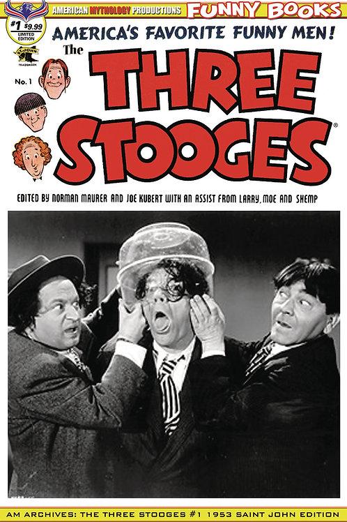 AM Archives Three Stooges #1 1953 1/350 Ltd Ed Photo Cvr