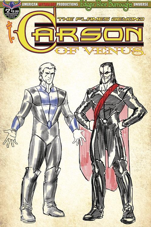 Carson of Venus #2 Flames Beyond 1/350 Ltd Ed Design Cvr