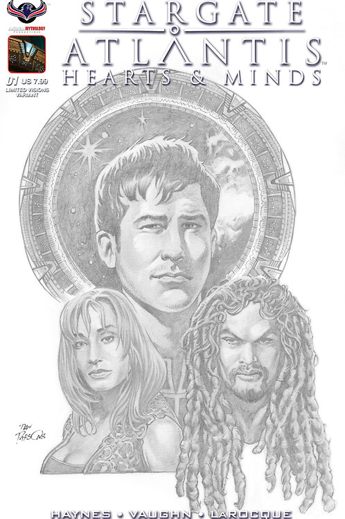 Stargate Atlantis Hearts & Minds #1 Visions in B&W Premium Cover