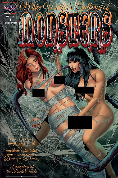 Mike Wolfer's Gallery of Monsters #1 Nude Cover MR