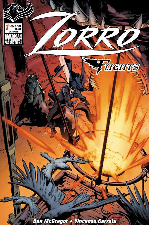 Don McGregor's Zorro Flights #1 Carratu Variant Cvr