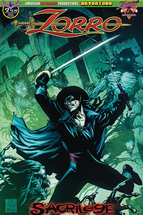 Zorro Sacrilege #2 Martinez Main Cvr