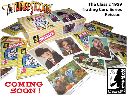 The Three Stooges 1959 Trading Card Reissue Box