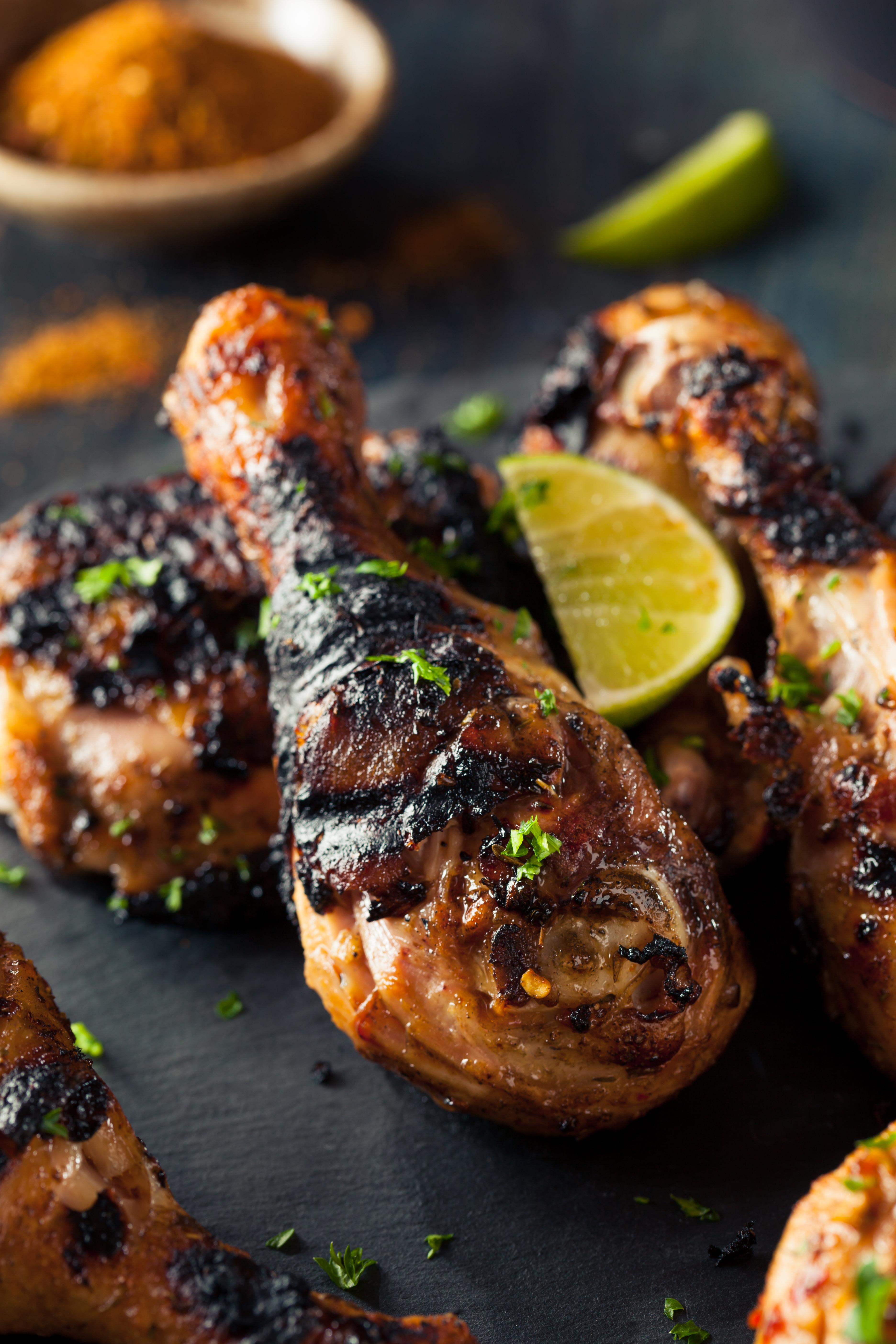 Spicy grilled jerked chicken
