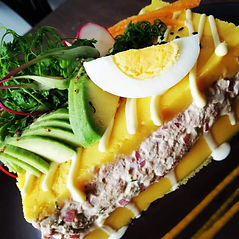 Traditional Peruvian causa Entre -starters