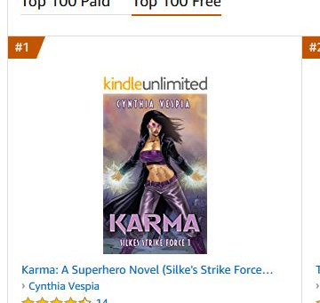 Karma lands number one on Amazon
