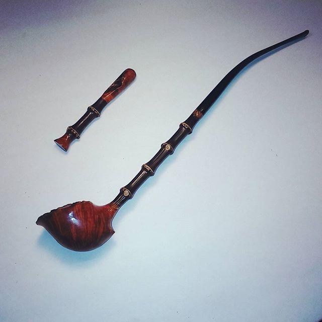 Instagram - #handmade #massachusettsmade #briar #bamboo #tobaccopipe #smokingpip