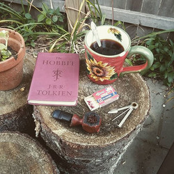 Instagram - #NewEnglandBreakfast #lightreading #thehobbit #jrrtolkien #tobaccopi