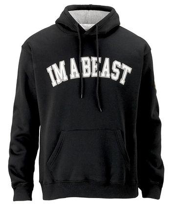 Im A Beast -Solid Black Hoodie