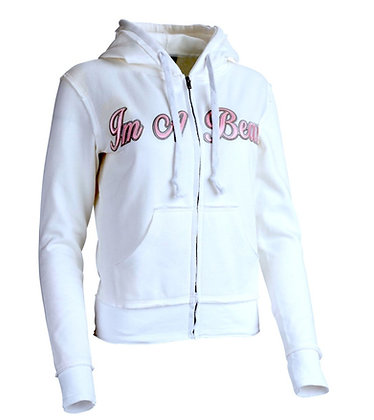 Im A Beast - Female Pearl White Zip-up Hoodie