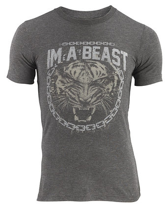 Im A Beast - Chained Tiger Shirt (Charcoal)