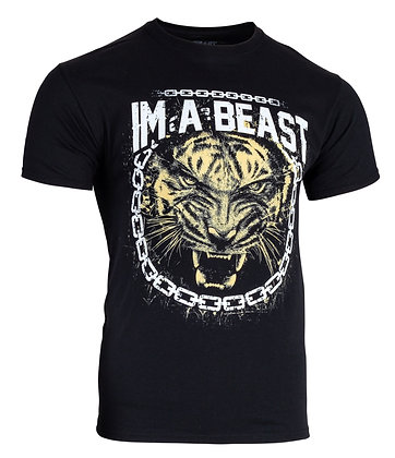 Im A Beast - Chained Tiger Shirt (Black)