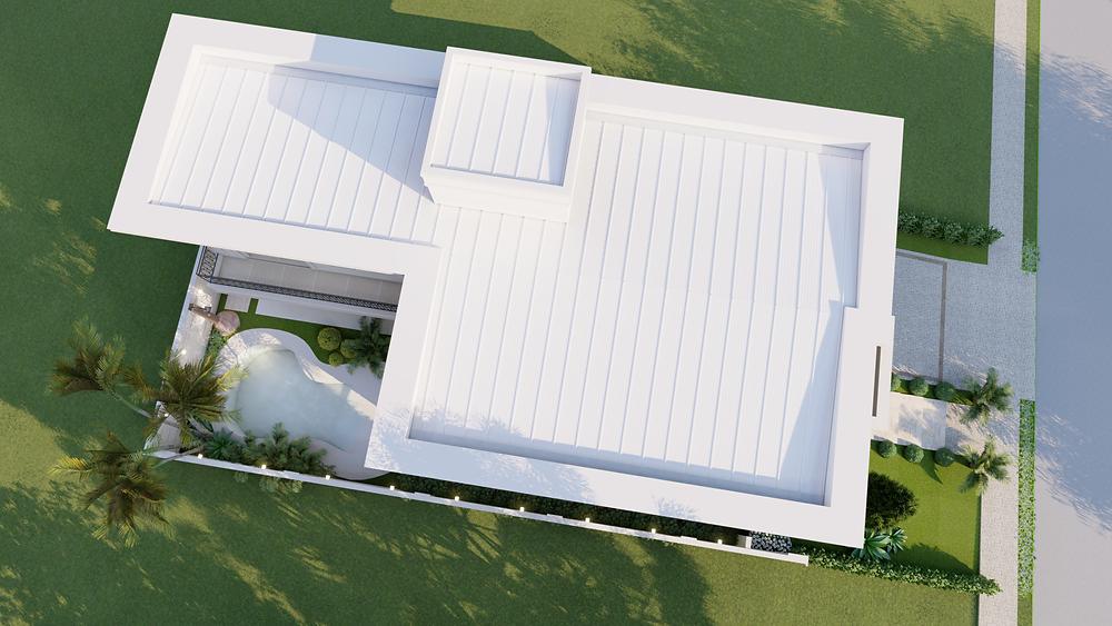 Projeto de Casa com piscina de areia Swiss Park Campinas