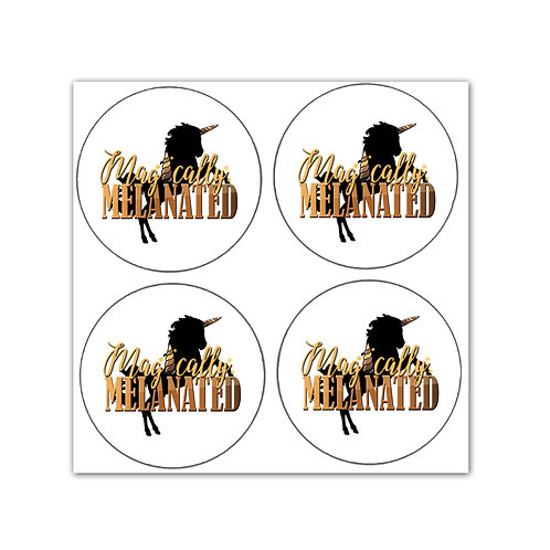 Magically Melanated (4) Stickers