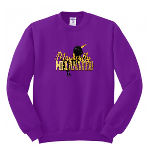 GLITTER Magically Melanated Crew Neck SweatShirt