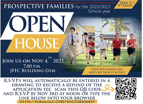 Open House Flyer (2022-23) with link and QR code snip for homepage.PNG