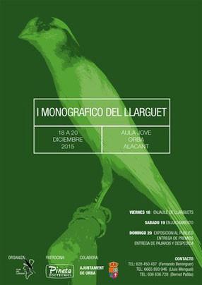 Cartel I Monográfico Llarguet 2015