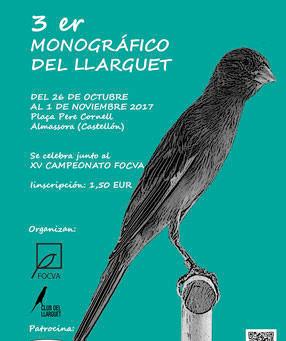 Ya están los grupos del III Monográfico del Llarguet en Almassora (Castellón)