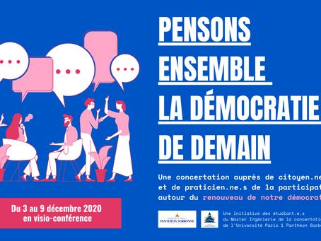 Inscription atelier praticiens - Pensons ensemble la démocratie de demain