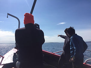 Divemaster intern giving a briefing in Scapa Flow