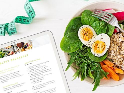 Take Back Your Health Meal Plan Printable Bundle