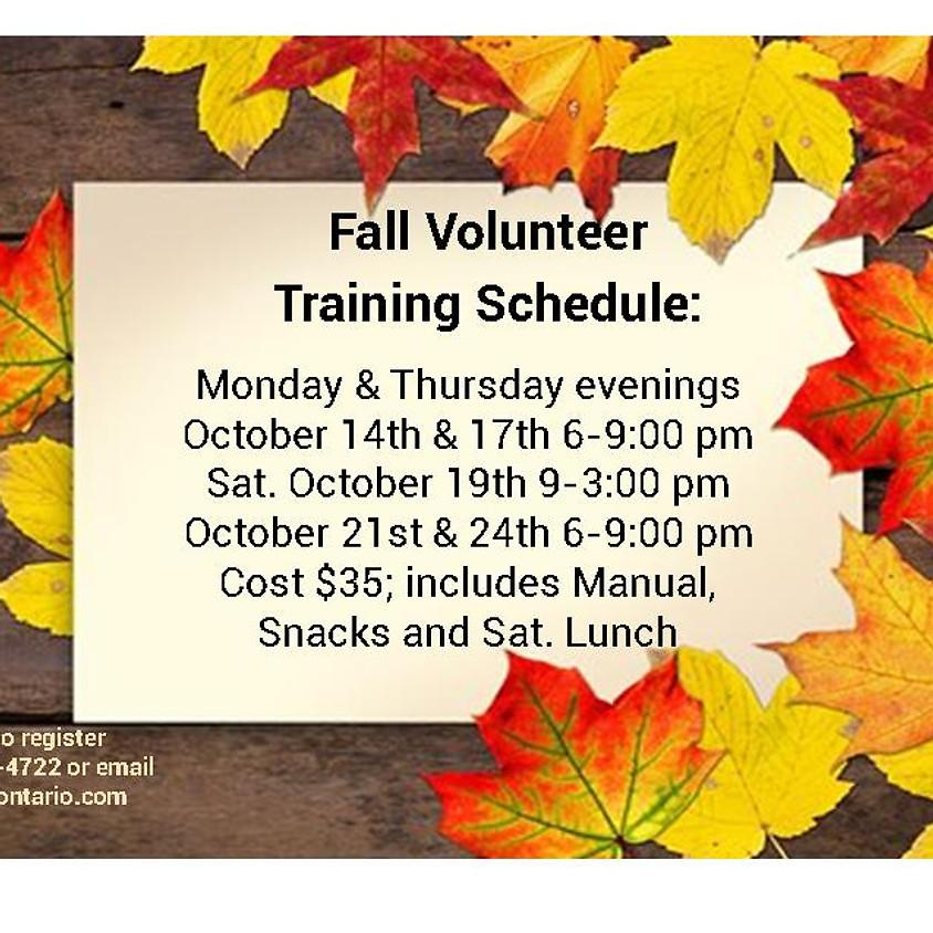 Fall Volunteer Training 2019