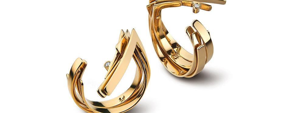 Anel Delírio Ouro e Diamante