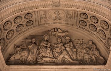 Bas relief, Adoration des mages