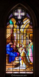 Évêque de Metz lavant les pieds des pèlerins